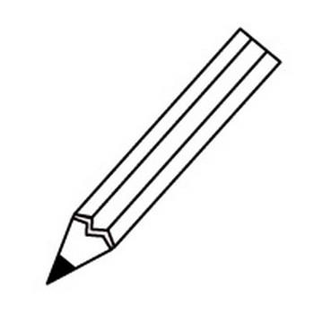 鉛筆のイラスト(白黒) — POP・イラスト素材 無料ダウンロード