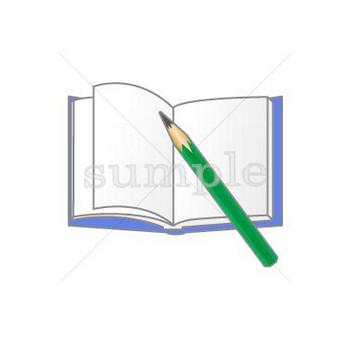 鉛筆とノート/無料イラスト素材0172
