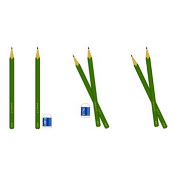 無料イラスト素材屋 「SATUKI晴れ」 Free materials and illustrations: 鉛筆と消しゴムのイラスト