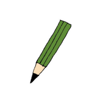 鉛筆のイラスト | かわいいフリー素材が無料のイラストレイン