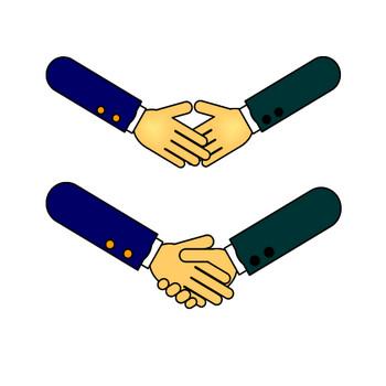 握手のイラスト(8)|フリー素材 イラストカット.com