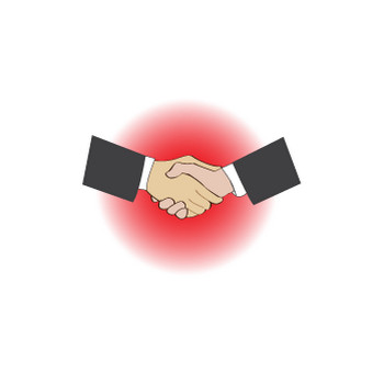 無料|WEB素材|イラスト|ビジネス/握手1