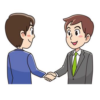握手するビジネスマン(無料イラスト素材) - イラスト素材図鑑