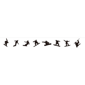 スノーボードの影絵   シルエットデザイン