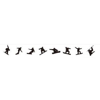 スノーボードの影絵 | シルエットデザイン