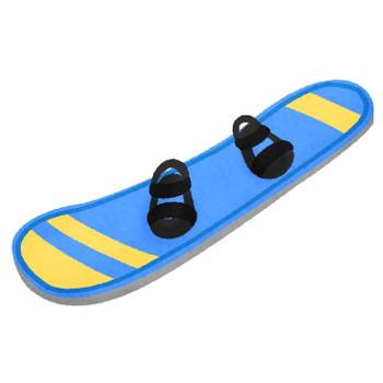 スノーボードの板   フリーイラスト素材 イラストラング