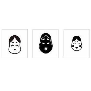 お多福|シルエット イラストの無料ダウンロードサイト「シルエットAC」