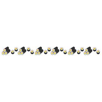 [節分のラインイラスト]恵方巻き(太巻き寿司)の飾り罫線 | 無料フリーイラスト素材集【Frame illust】