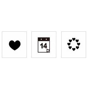 バレンタイン|シルエット イラストの無料ダウンロードサイト「シルエットAC」