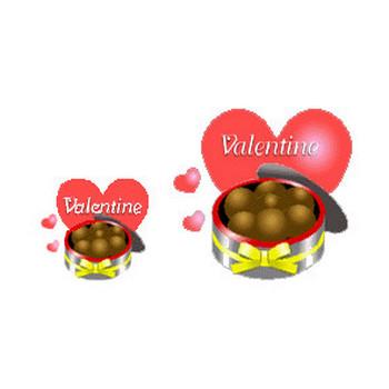 素材屋じゅんバレンタインイラスト背景素材チョコレート・バレンタインデー素材