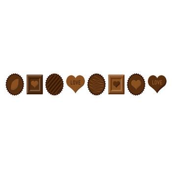 バレンタインチョコレートのライン飾り罫線イラスト | 無料フリーイラスト素材集【Frame illust】