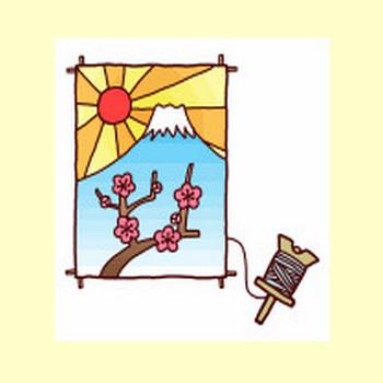 凧・奴凧/年賀状・お正月/冬の季節・行事/無料イラスト【みさきのイラスト素材】