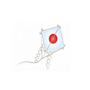 日の丸の凧の年賀状イラスト | 年賀状2019 無料イラスト