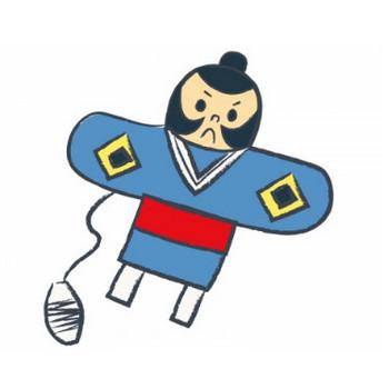 お正月の定番やっこ凧の年賀状イラスト02 | 年賀状2019 無料イラスト