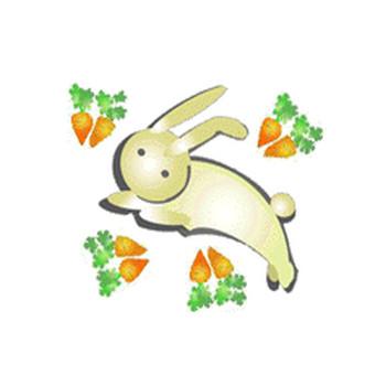 うさぎ兎ウサギ干支卯のイラスト背景素材 素材屋じゅんフリー無料アイコンうさぎ年賀状素材