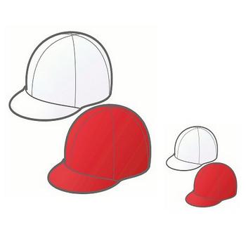 幼稚園児のイラスト・絵カード:紅白帽のイラスト・絵カード素材|運動会のイラスト