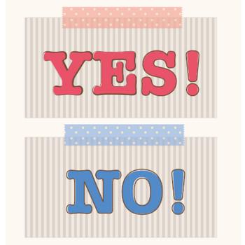 YES! NO! (イエス、ノー)マークのイラスト | 商用フリー(無料)のイラスト素材なら「イラストマンション」
