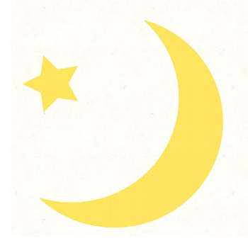 三日月と星 | フリーイラスト素材のぴくらいく|商用利用可能です