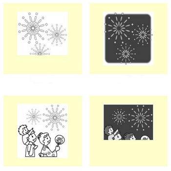 花火1/夏の季節・行事/無料イラスト【みさきのイラスト素材】