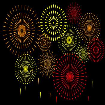 花火イラスト//商用利用・加工利用可能な無料フリーイラストアイコン素材集 -エムスタジオ-