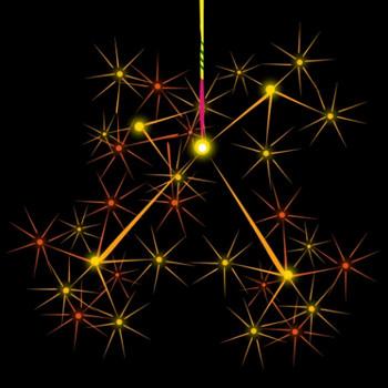 線香花火の綺麗なイラスト - 無料イラストのIMT 商用OK、加工OK