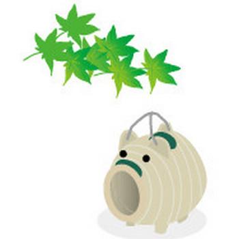 イラストwanpug素材ブログ |夏のイラスト 豚の蚊取り線香