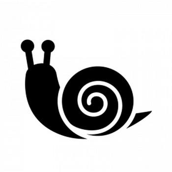 カタツムリのシルエット | 無料のAi・PNG白黒シルエットイラスト