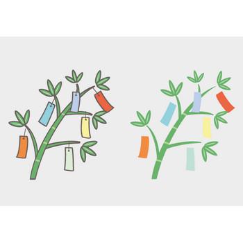 七夕かざりのフリーイラスト – クリスマス・ハロウィン、お正月イラストEVENTs Design