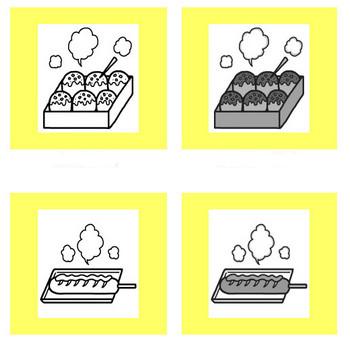 屋台・出店メニュー1/バザー/園の行事/保育/無料イラスト【みさきのイラスト素材】