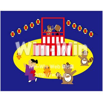 盆踊り W-019248 の無料CG・イラスト素材