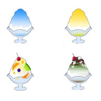 無料素材の『季節・行事素材のイラスト市場』夏素材・かき氷のイラスト