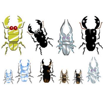 クワガタイラスト素材フリー素材背景素材アイコン★素材屋じゅんの昆虫素材・くわがた画像絵カット