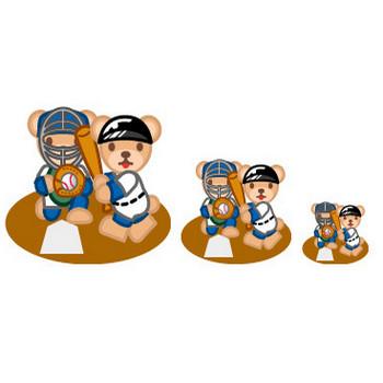 フリー素材・無料イラスト「ふぁんし~・ぱ~つ・しょっぷ」-スポーツ-野球のイラスト(ベースボール)
