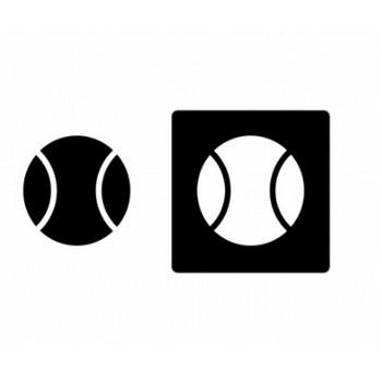 野球ボール・シルエットイラスト素材   イラスト無料・かわいいテンプレート