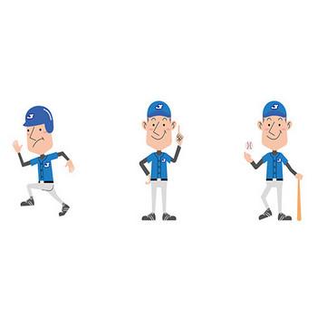 【商用無料】野球選手のフリー イラスト素材