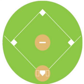 野球グラウンドのシンプルイラスト <無料>   イラストK