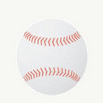 野球ボール: 素材庭園(フリーイラスト素材集) ~花・動物・食べ物・人物・雑貨他