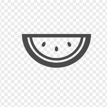 スイカのフリーアイコン   アイコン素材ダウンロードサイト「icooon-mono」   商用利用可能なアイコン素材が無料(フリー)ダウンロードできるサイト