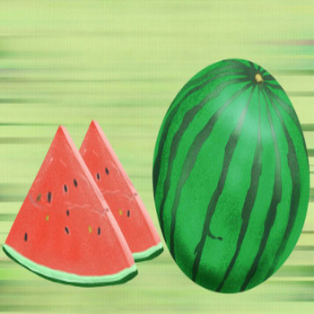スイカのイラスト - 無料で使えるフルーツの素材集★ - チコデザ