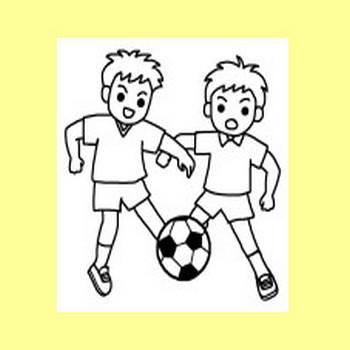 サッカー/クラブ・部活動・スポーツ/学校/無料イラスト【みさきのイラスト素材】