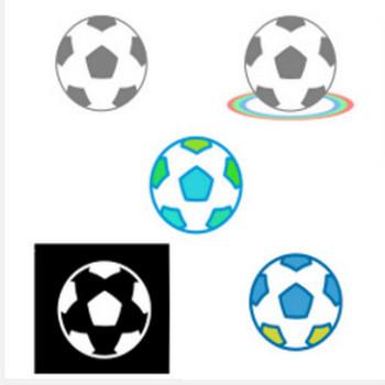 » サッカーボールの透過イラスト/無料フリーイラスト素材/名前シールに | 可愛い無料イラスト素材集