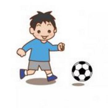 サッカーをする少年【無料こどもイラスト図鑑】