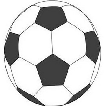 サッカーボールカット/無料イラスト素材0057