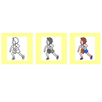 バスケットボール/クラブ・部活動/学校/無料イラスト【みさきのイラスト素材】