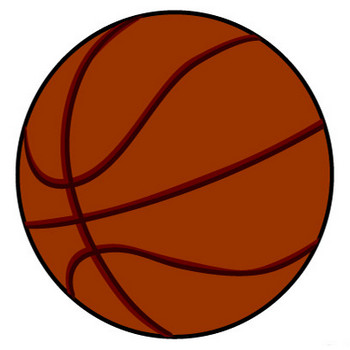 シンプルなバスケットボールの無料イラスト素材 iiイラストイメージ