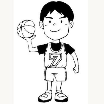 バスケットボールクラブの少年★スポーツ子ども素材   無料イラスト配布サイトマンガトップ