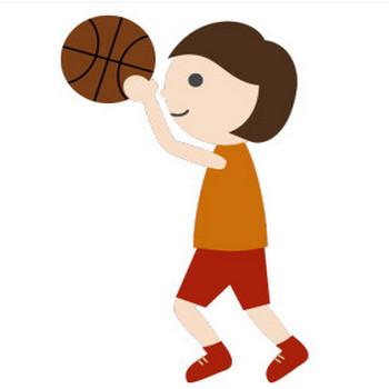 バスケットボール(女子)のシンプルイラスト <無料>   イラストK