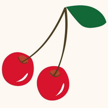 さくらんぼ(サクランボ・チェリー)のイラスト【フルーツ・果物】 | 商用フリー(無料)のイラスト素材なら「イラストマンション」
