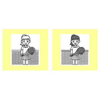 テニス/クラブ・部活動/学校/無料イラスト【みさきのイラスト素材】