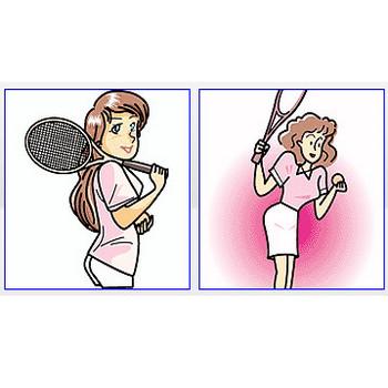 テニススクールイラスト